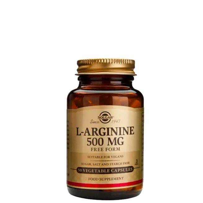 L-arginine 500mg, 50 kapslar