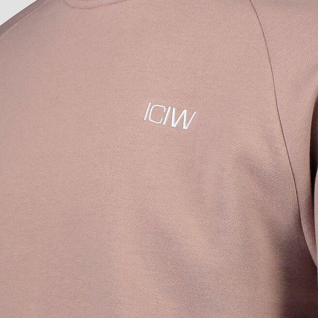 ICANIWILL Essential Crewneck, Dark Taupe