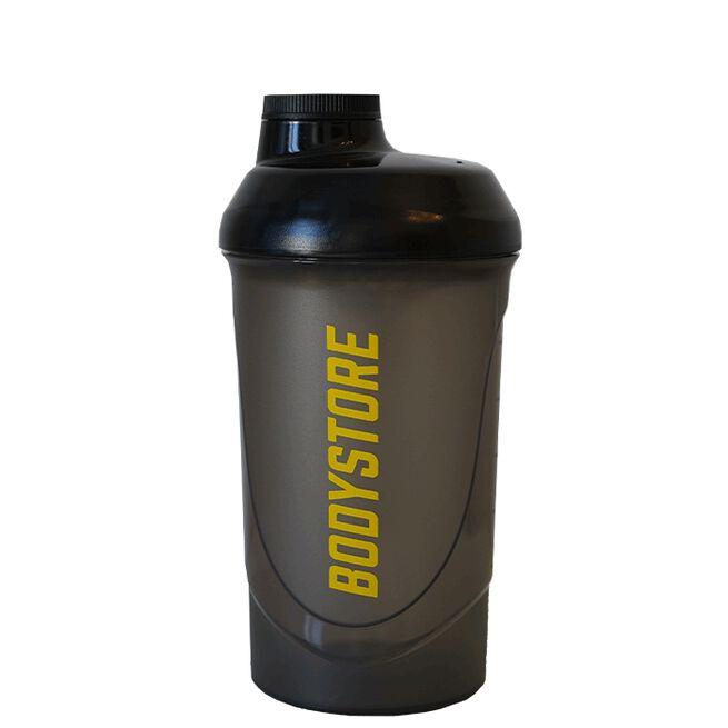 Bodystore Wave Shaker, Black, 600ml