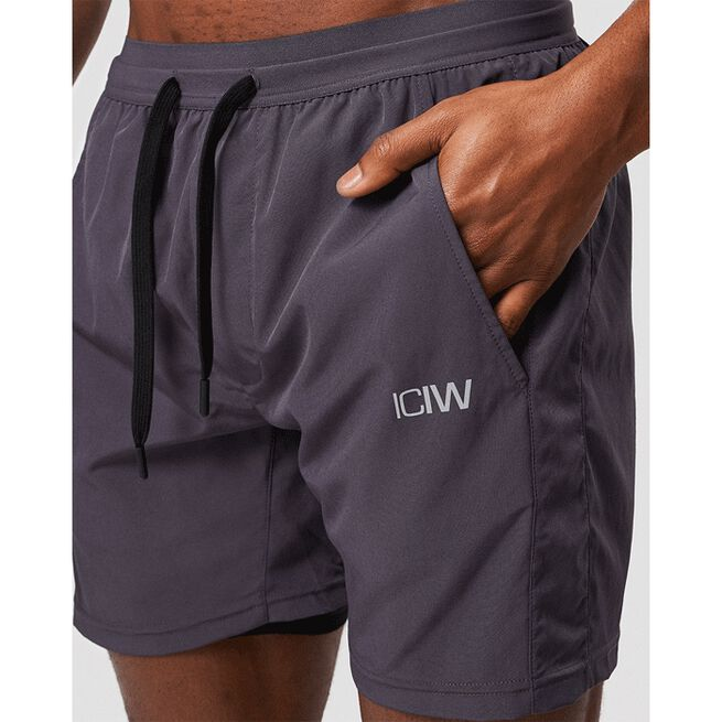 Workout 2-in-1 Shorts, Graphite