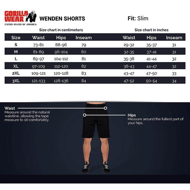 Wenden Track Shorts, Black/Gold, L