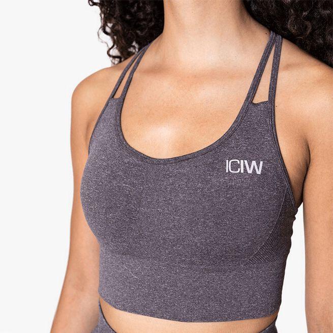 ICIW Define Seamless Sports Bra, Grey Melange