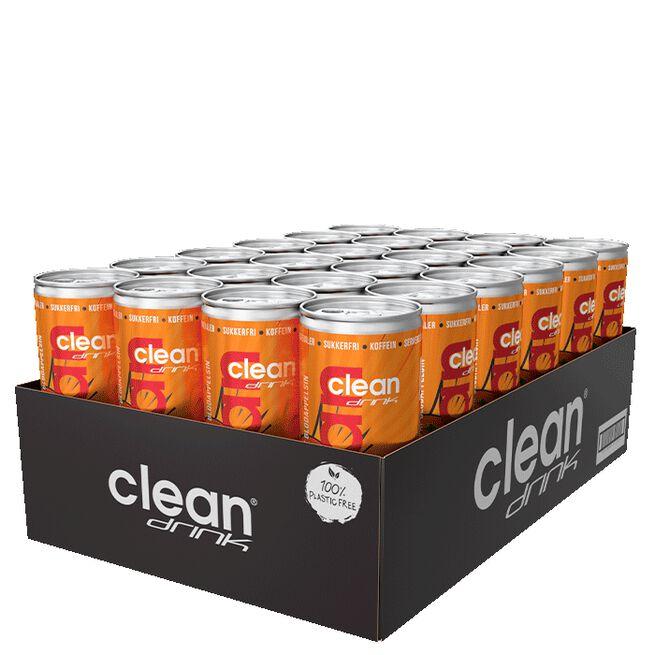 24 x Clean Drink, 330 ml, Blodappelsin DK