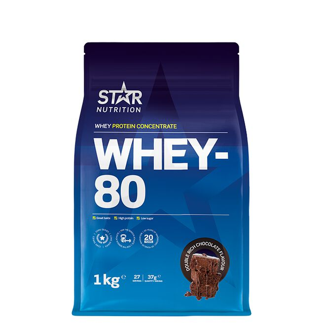 Star nutritio whey-80 protein shake Double rich chocolate
