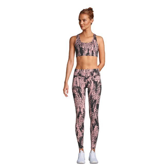 Casall Iconic Printed 7/8 Tights Survive Pink