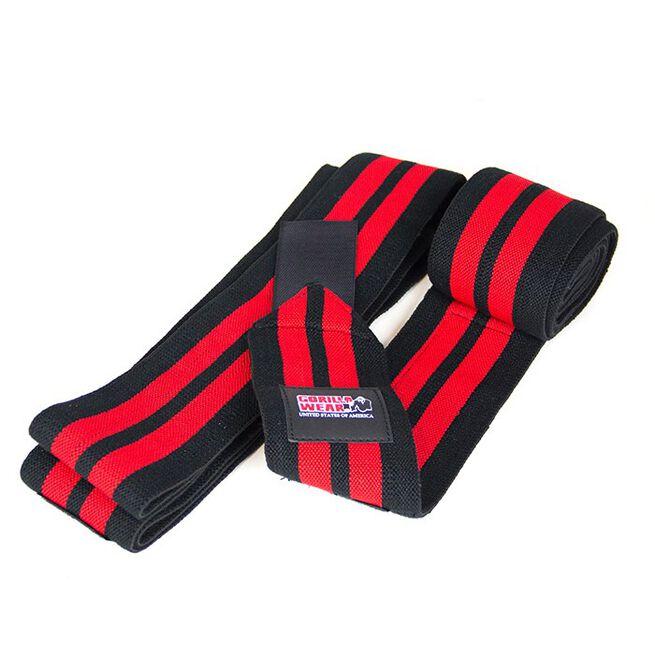 Knee Wraps, black/red, 2 m