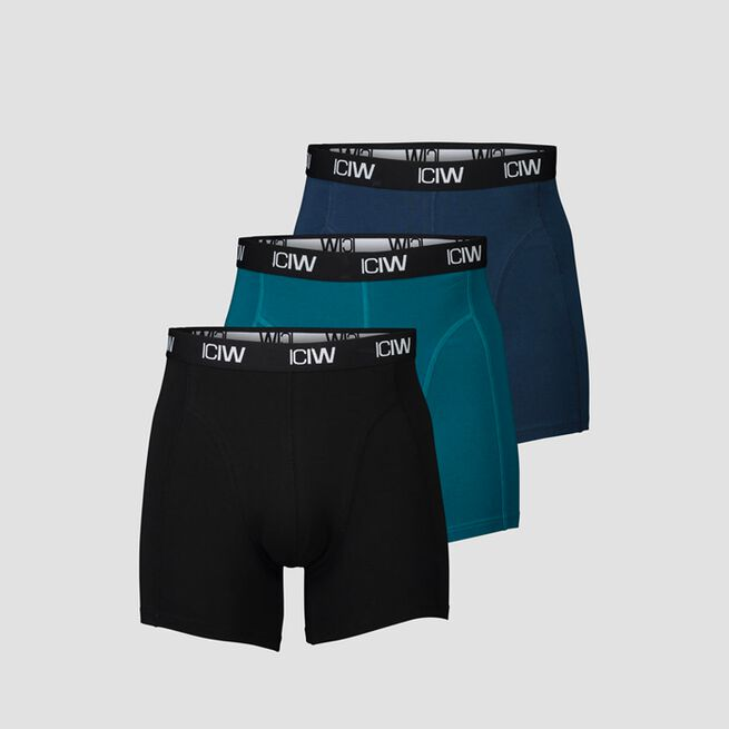 ICANIWILL Boxer 3 Pack Black Teal