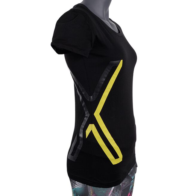 Genetix T-shirt, Black, Dam, XS