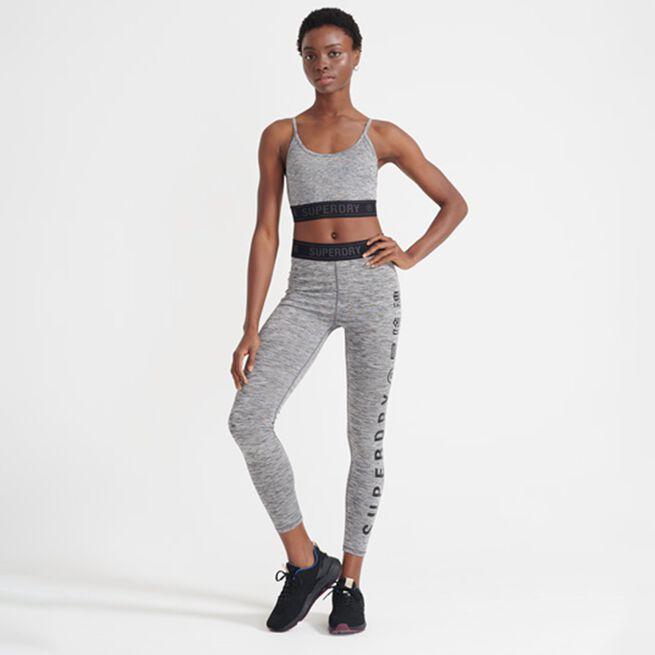 Superdry Training Elastic Legging Grey Marl