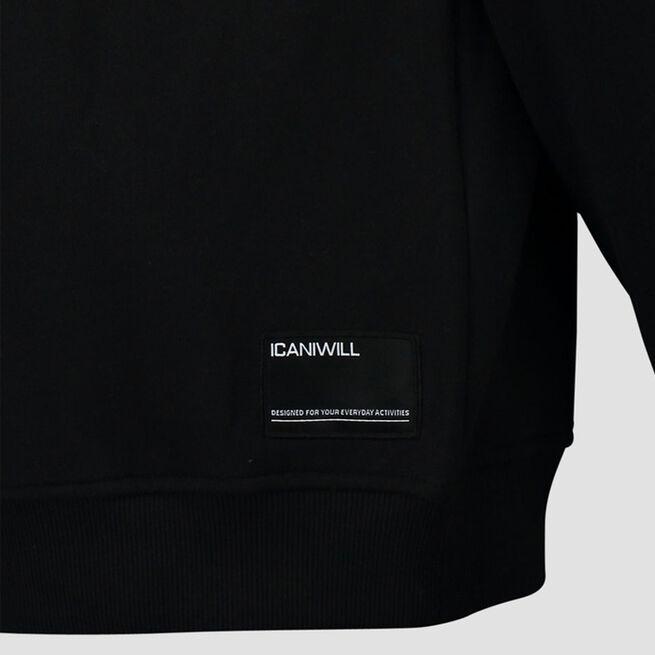 ICANIWILL Essential Crewneck, Black