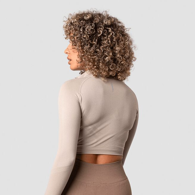 ICANIWILL Define Cropped 1/4 Zip, Sand