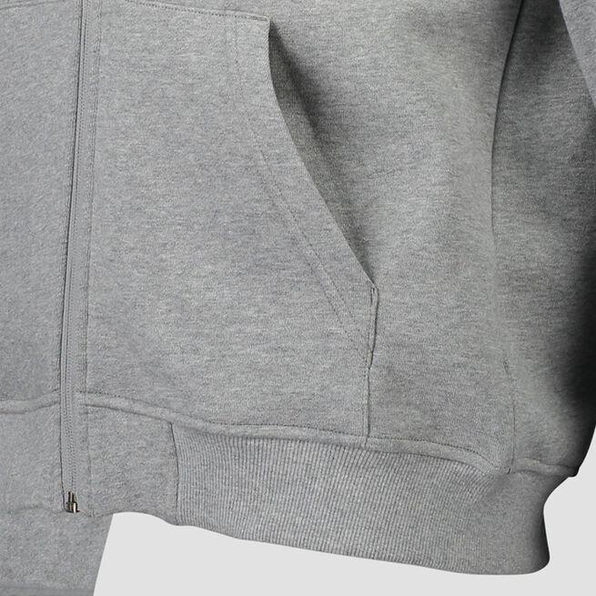 ICANIWILL Essential Zipper Hoodie Light Grey