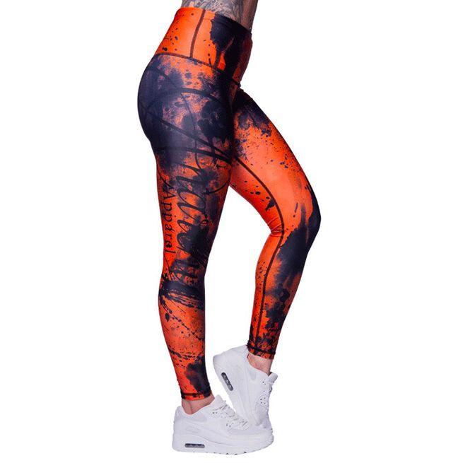 Anarchy Apricot Ash Leggings Orange Black