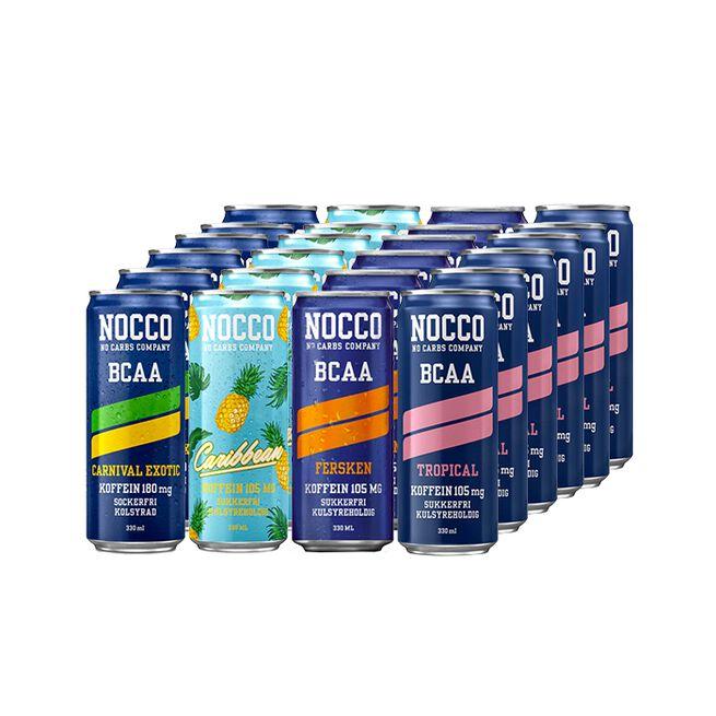 24 x NOCCO BCAA, 330 ml, Blandede smage