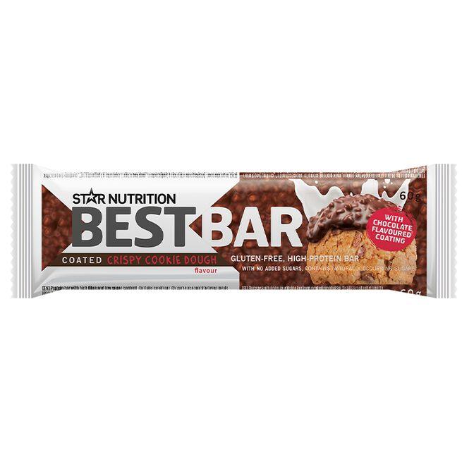 Best Bar, 60 g, COATED Crispy Cookie Dough (soft)
