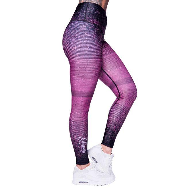 Anarchy Salmon Stripe Leggings, Black/Pink