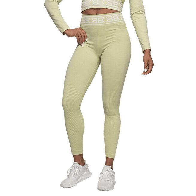 Better Bodies Rib Seamless Legging, Mellow Green Melange