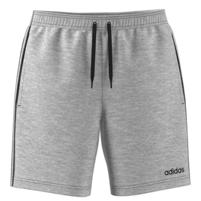 ADIDAS 3 Stripe Shorts, Grey, S