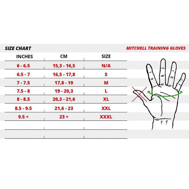 Mitchell Training Gloves, black - 2XL