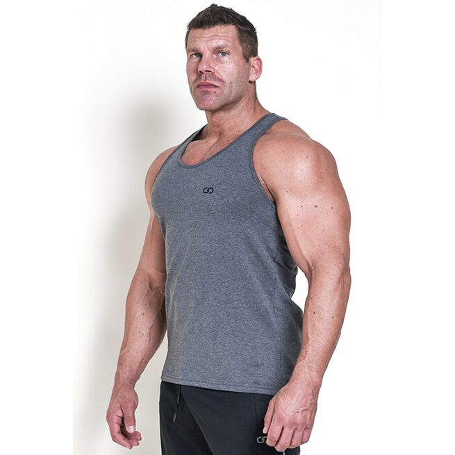 Chained Gym Stringer, Grey Melange, XL