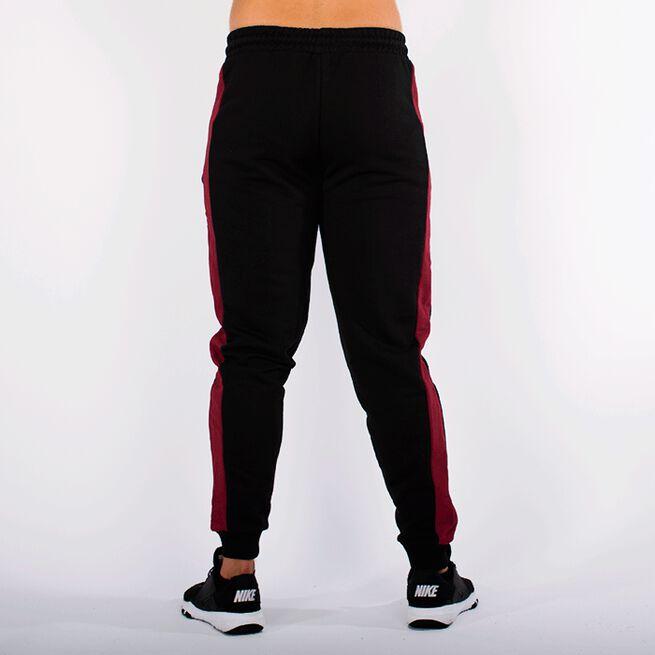 Star Gym Joggers, Black/Maroon