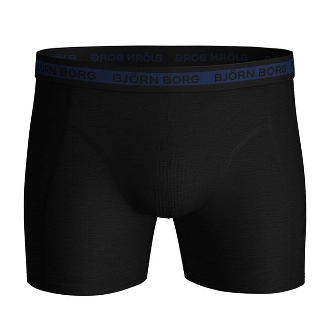 7-Pack Sammy Shorts Solid Multi, Black Beauty, S