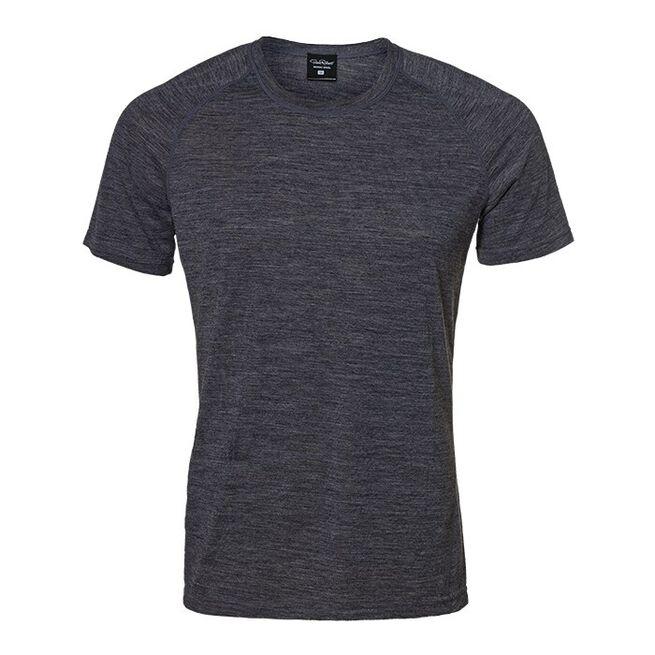Light Wool T-shirt Men, Grey Melange, XL
