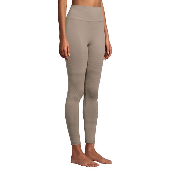 Seamless Blocked Tights, Taupe Grey, S