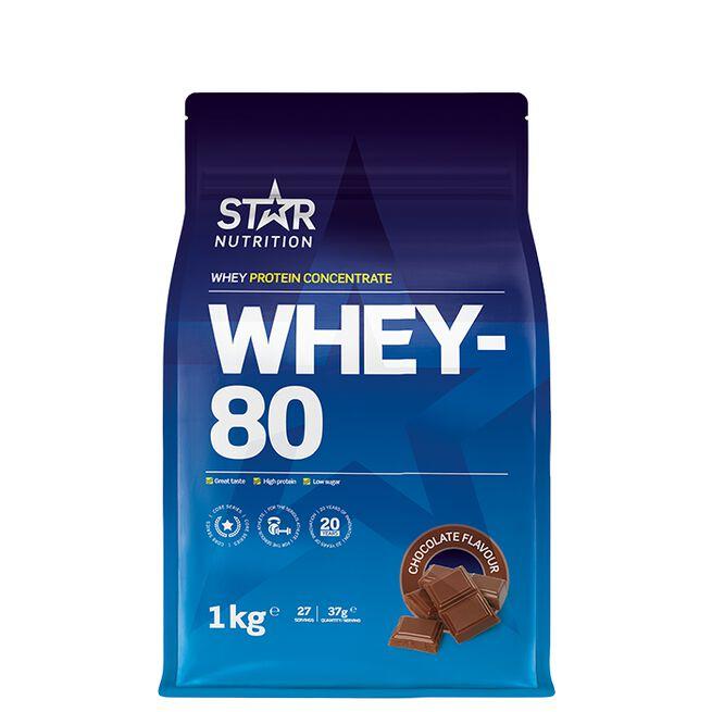 Star Nutrition whey-80 choklad
