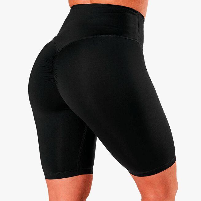 ICIW scrunch v-shape biker shorts black