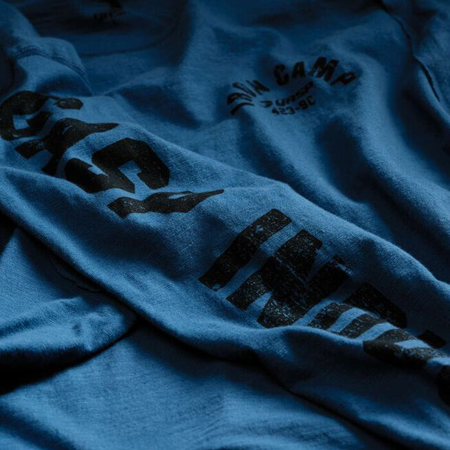 Throwback LS Tee, Ocean Blue, M