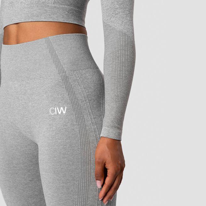 ICANIWILL Nombre Seamless LS Crop Top Light Grey Melange