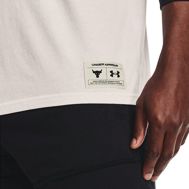 Under Armour Project Rock Iron 3/4 Sleeve Onyx White