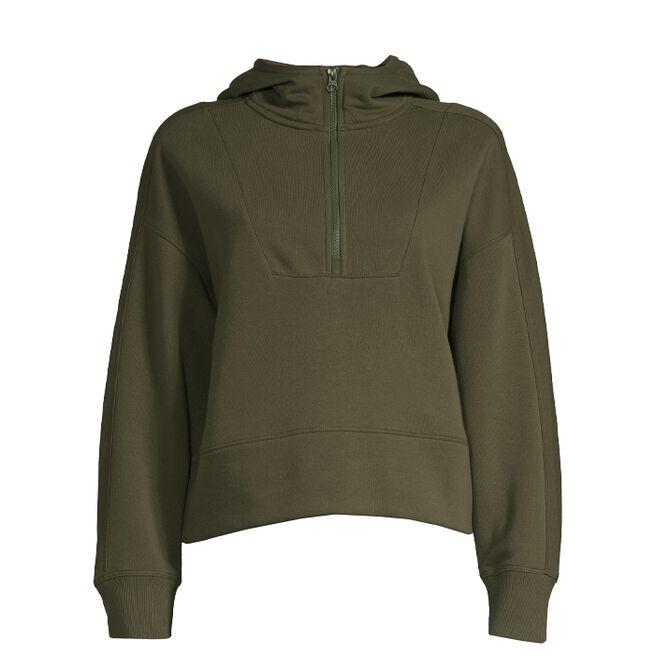 Oversized Zip Hood, Forest Green, S