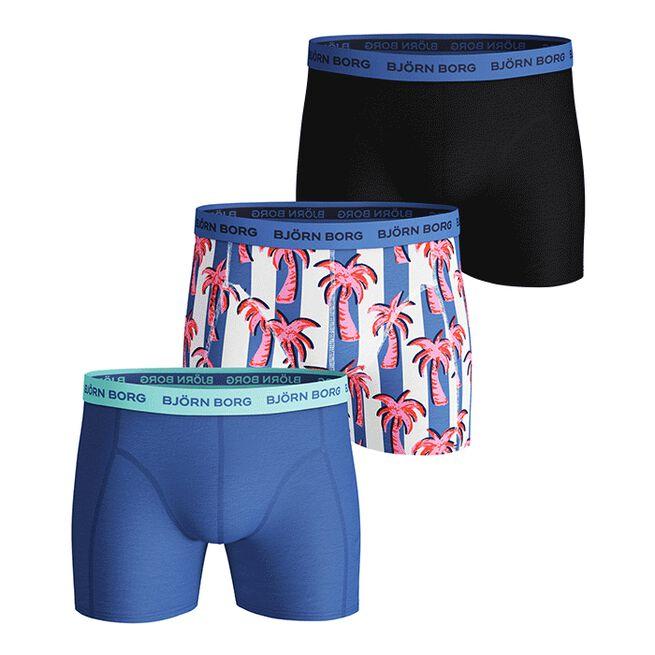 3-Pack Sammy Shorts BB Palmstripe, Ultramarine, S