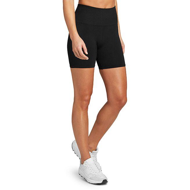 STHLM Seamless Rib Shorts, Black Beauty, M/L