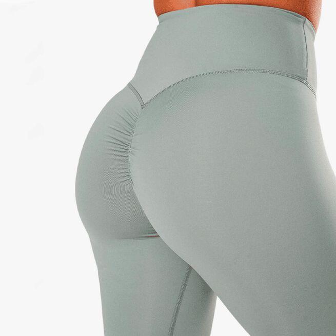 ICIW scrunch v-shape biker shorts silver mist