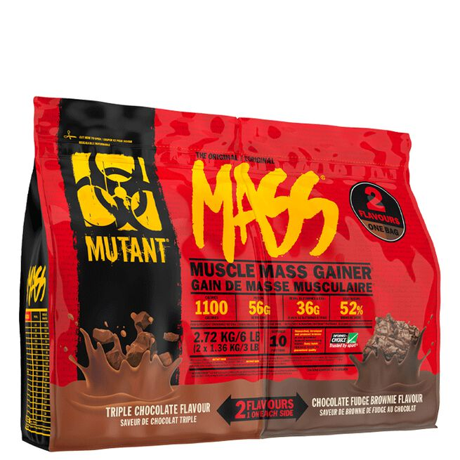 Dual Chamber Mutant Mass, 2,7 kg, Triple Choc/Chocolate Fudge Brownie