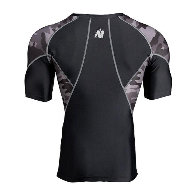 Cypress Rashguard Short Sleeve, Black/Grey Camo, L