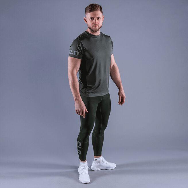 CLN Mist T-shirt, Moss Green, L