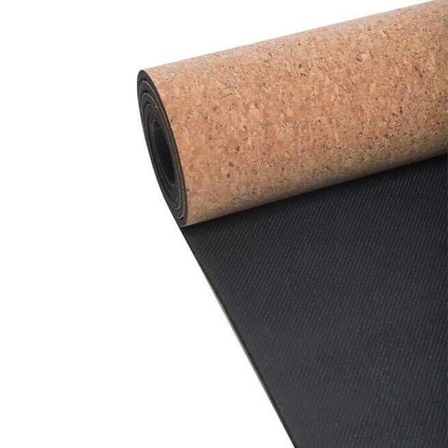 Yoga Mat Natural Cork 5mm, Natural Cork/Black