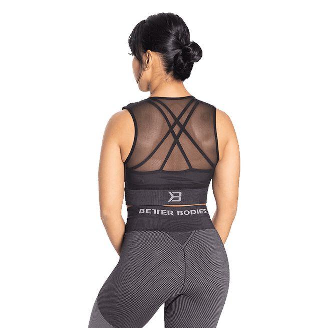 Roxy Seamless Top, Black/Grey, S