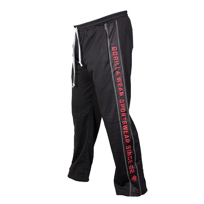 Functional Mesh Pants, Black/Red, ,XXL/3XL