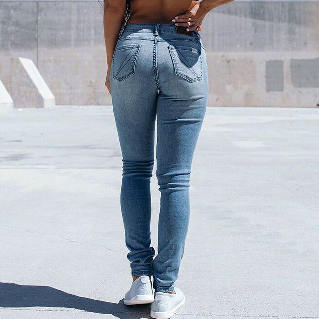 Women's Slim Athletic Fit Denim, Light Wash, 27