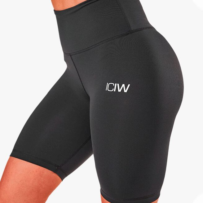 ICIW scrunch v-shape biker shorts anthrarcite