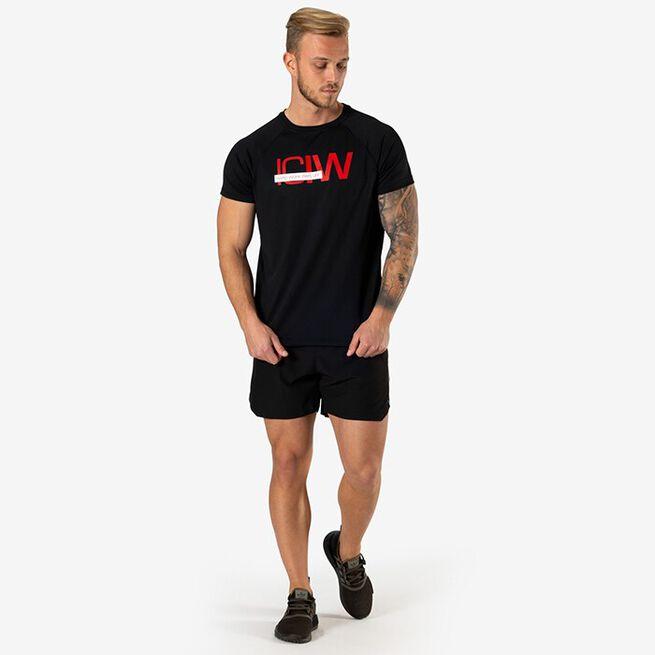Mesh Training T-shirt, Black, L
