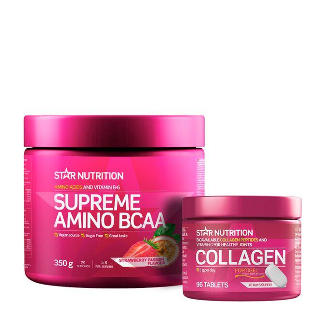 Supreme Amino BCAA, 350g + Collagen, 96 tabs