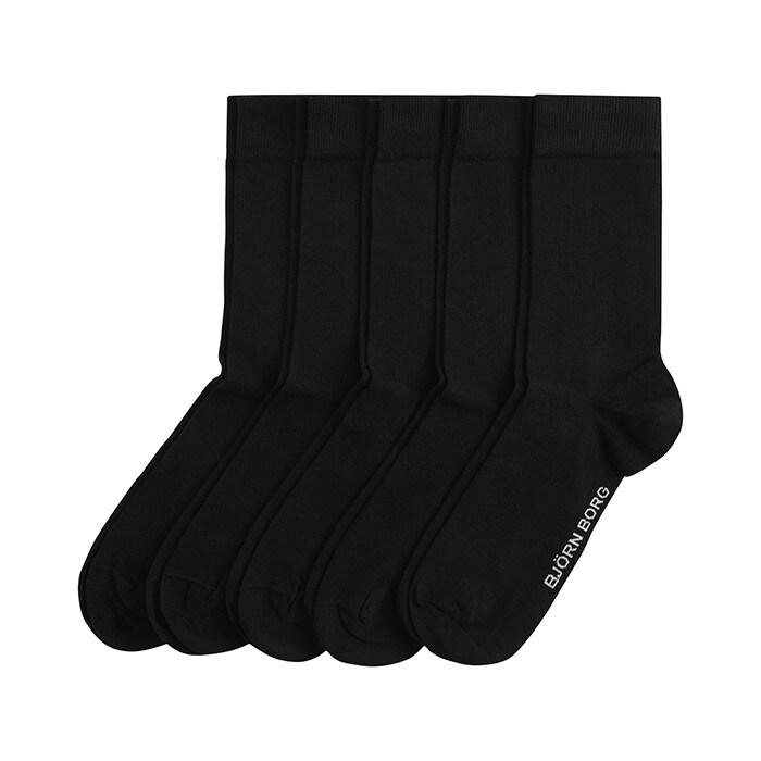 5-Pack Essential Ankle Sock, Black, 41-45