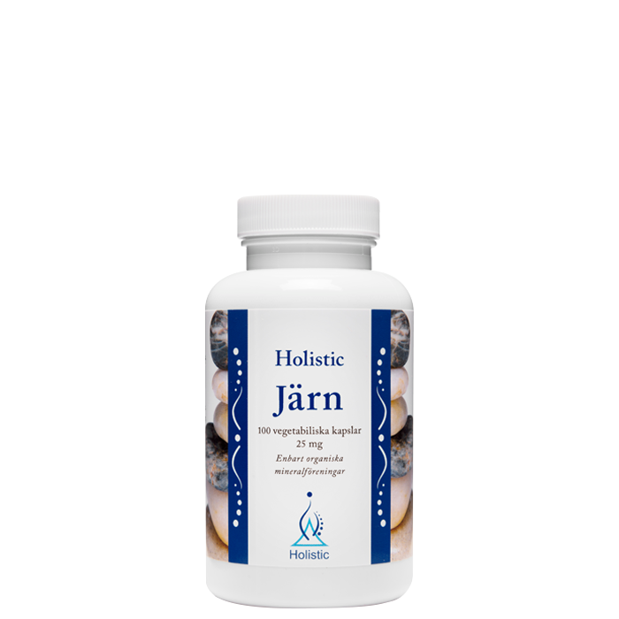 Jern, 25 mg, 100 kapsler