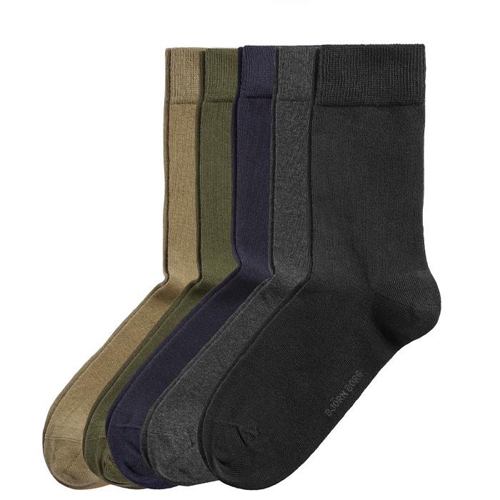 5-Pack Essential Ankle Sock, Multipack, 41-45